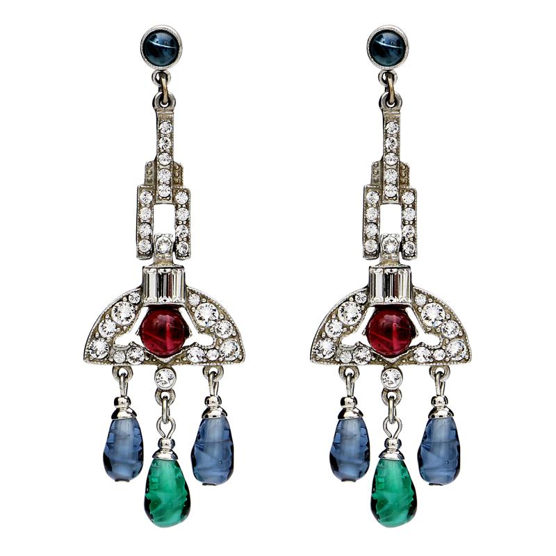 Velvet Glamour Chandelier Drop Post Earrings | Ben-Amun
