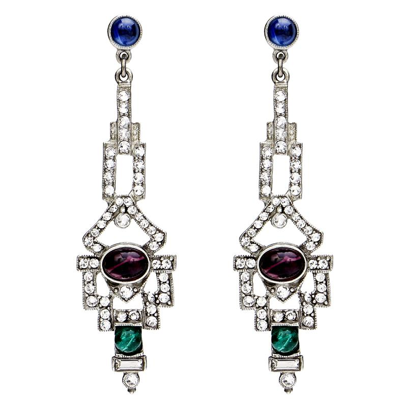 Velvet Glamour Multi-Color Deco Post Earrings | Ben-Amun