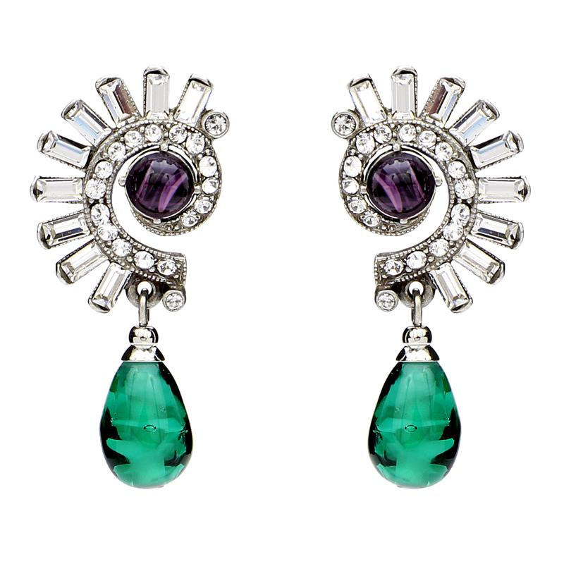 Velvet Glamour Deco Crystal Post Earrings | Ben-Amun