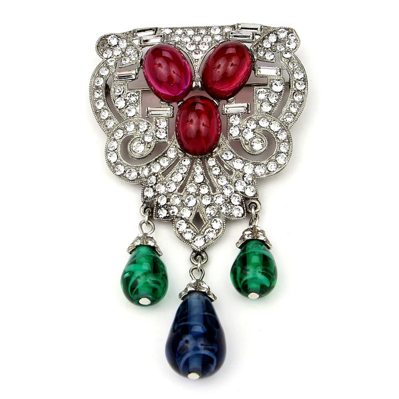 Velvet Glamour Multi-Color Ornate Brooch | Ben-Amun