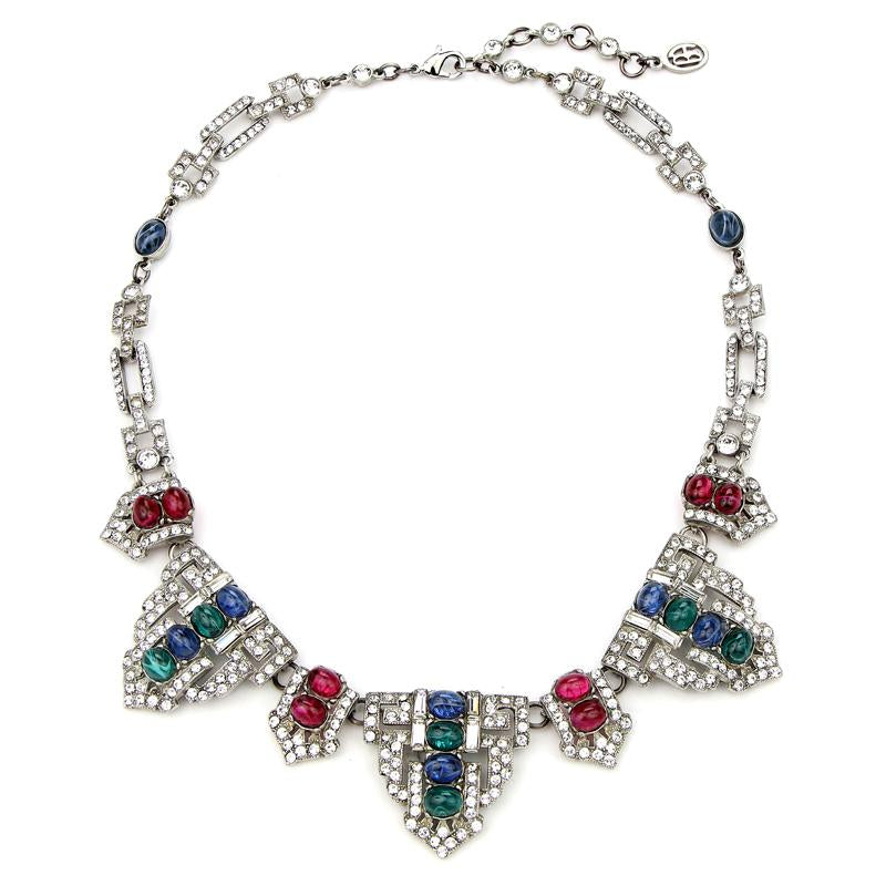 Velvet Glamour Multi-Color Deco Crystal Necklace | Ben-Amun