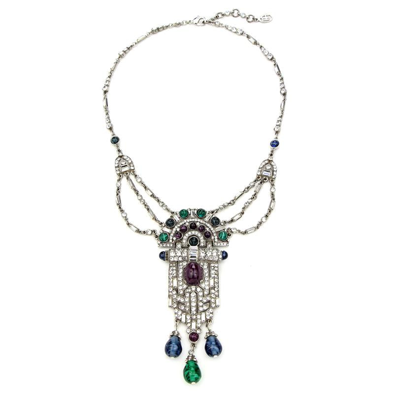 Velvet Glamour Ornate Crystal Necklace | Ben-Amun