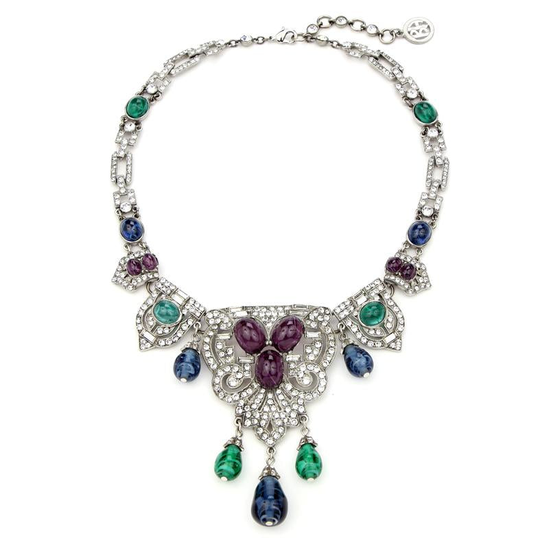 Velvet Glamour Crystal Drop Necklace | Ben-Amun