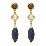 Silk Road Ornate Drop Earrings - Ben-Amun