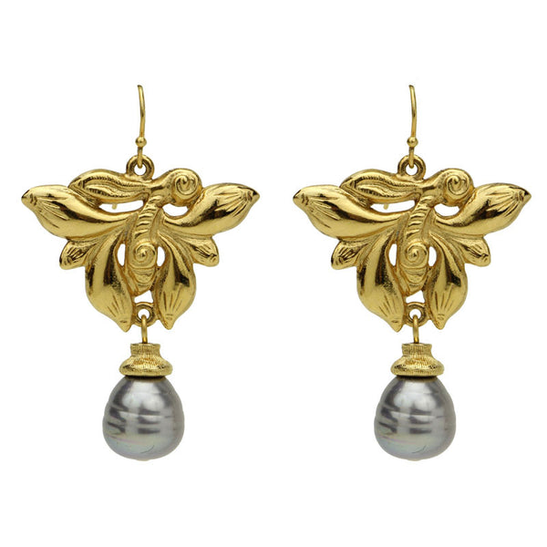 Silk Road Butterfly Drop Earrings - Ben-Amun