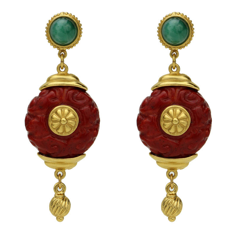 Silk Road Lantern Drop Earrings - Ben-Amun