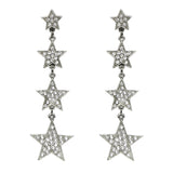Rock Star Crystal Stacking Stars Drop Post Earrings - Ben-Amun