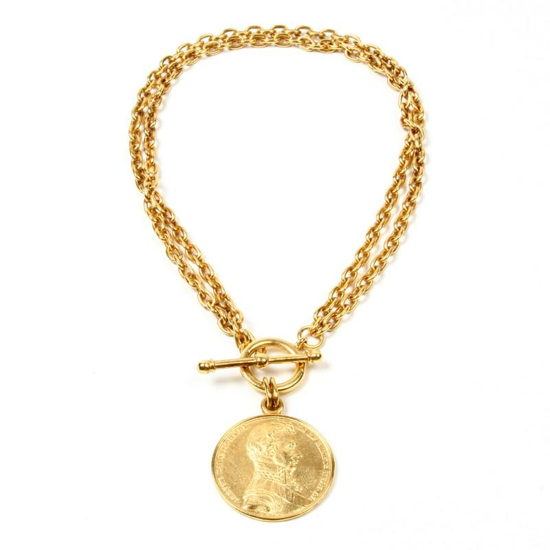 Moroccan Coin Double Chain Necklace - Ben-Amun