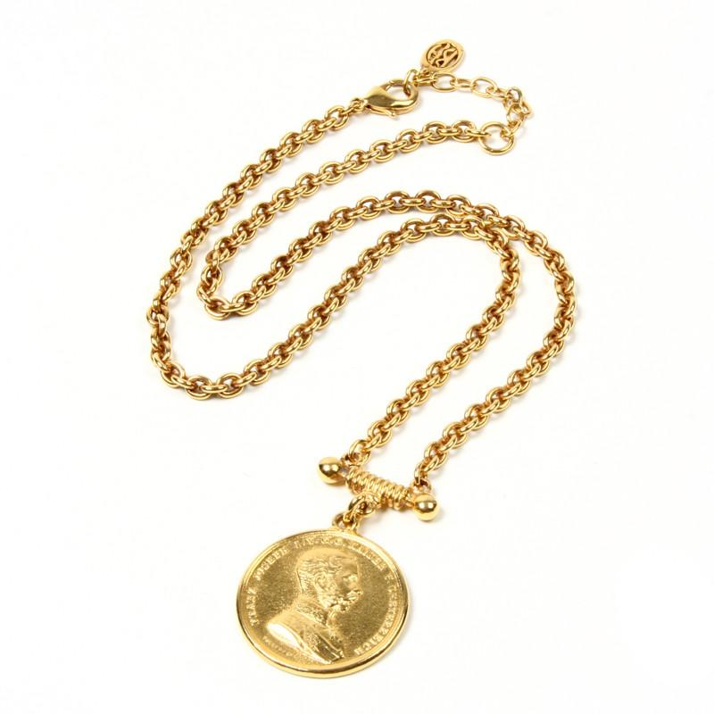 Moroccan Coin Pendant Necklace - Ben-Amun