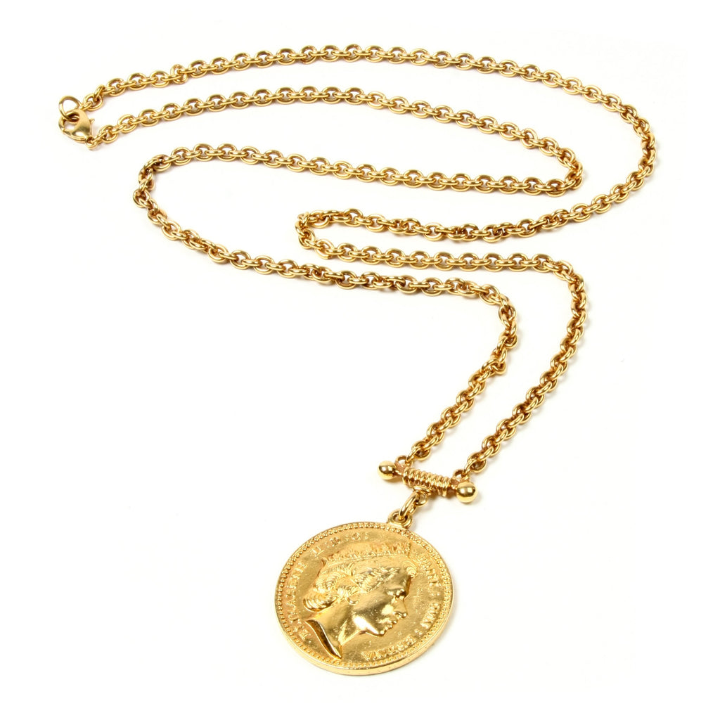 Moroccan Coin Long Pendant Necklace - Ben-Amun
