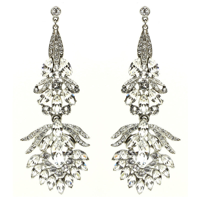 Crystal Peacock Earrings - Ben-Amun