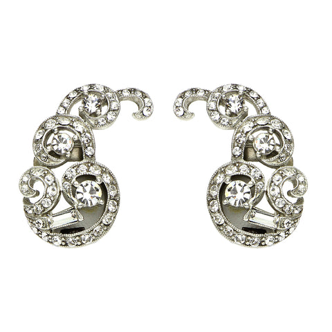 Elegance Twirl Clip Earrings - Ben-Amun