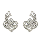 Elegance Crystal Deco Post Earrings - Ben-Amun