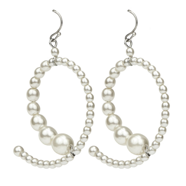 Elegance Pearl Hoop Earrings - Ben-Amun