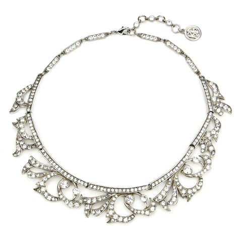 Elegance Crystal Deco Bib Necklace - Ben-Amun