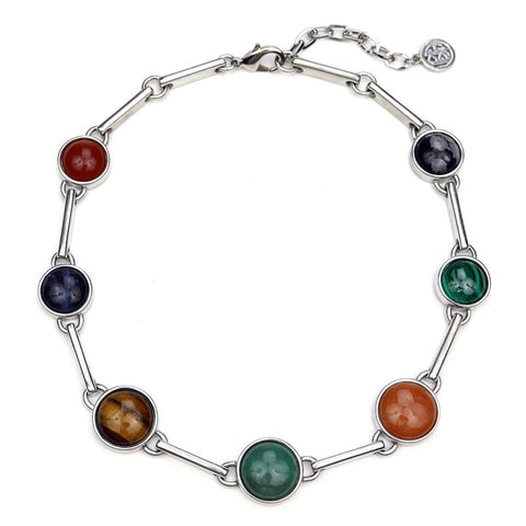 Mondrian Multi Stone Necklace - Ben-Amun