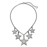 Rock Star Five Star Crystal Necklace - Ben-Amun