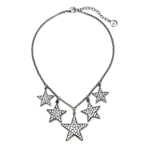 Rock Star Five Star Crystal Necklace