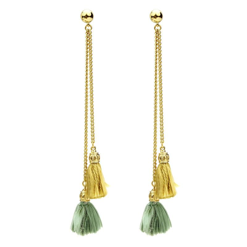 Venetian Breeze Tassel Elegant Drop Earrings - Ben-Amun