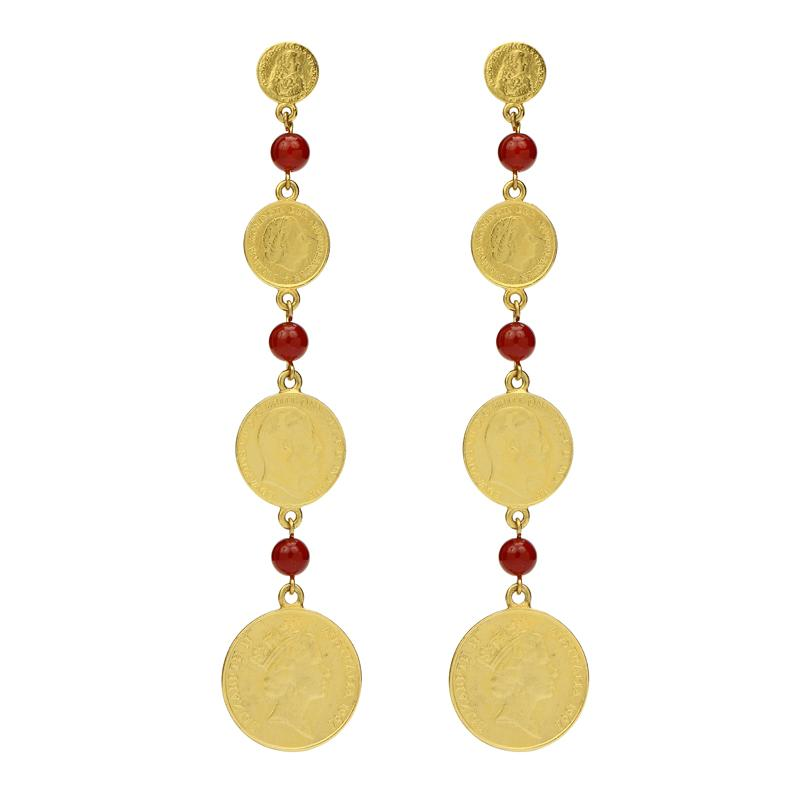 Casablanca Coin Drop Earrings - Ben-Amun