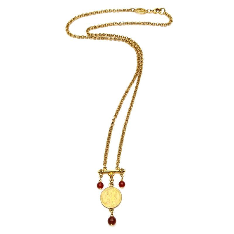 Casablanca Long Chain Pendant Necklace - Ben-Amun