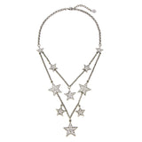 Rock Star Layer Crystal Necklace