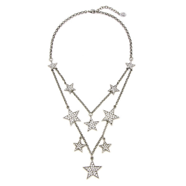 Rock Star Layer Crystal Necklace - Ben-Amun