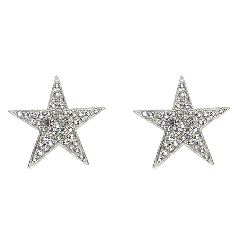 Rock Star Crystal Large Clip On Earrings - Ben-Amun