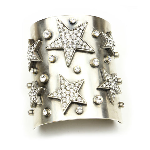 Rock Star Crystal Cuff Bracelet