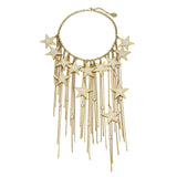 Rock Star Multi Crystal Gold Necklace