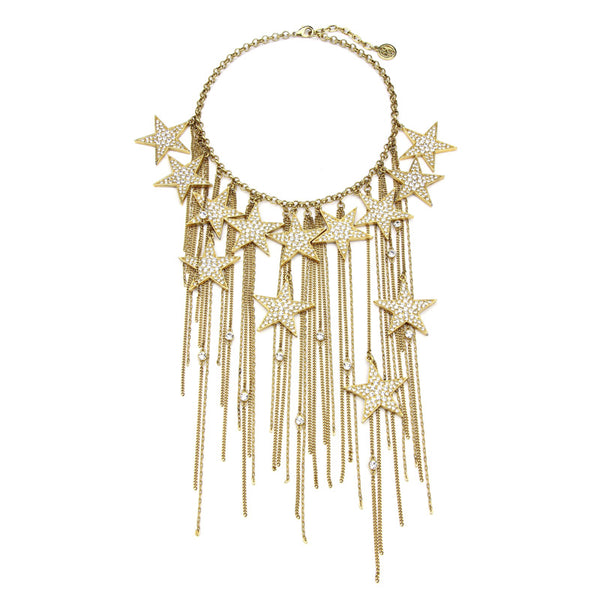 Rock Star Multi Crystal Gold Necklace - Ben-Amun