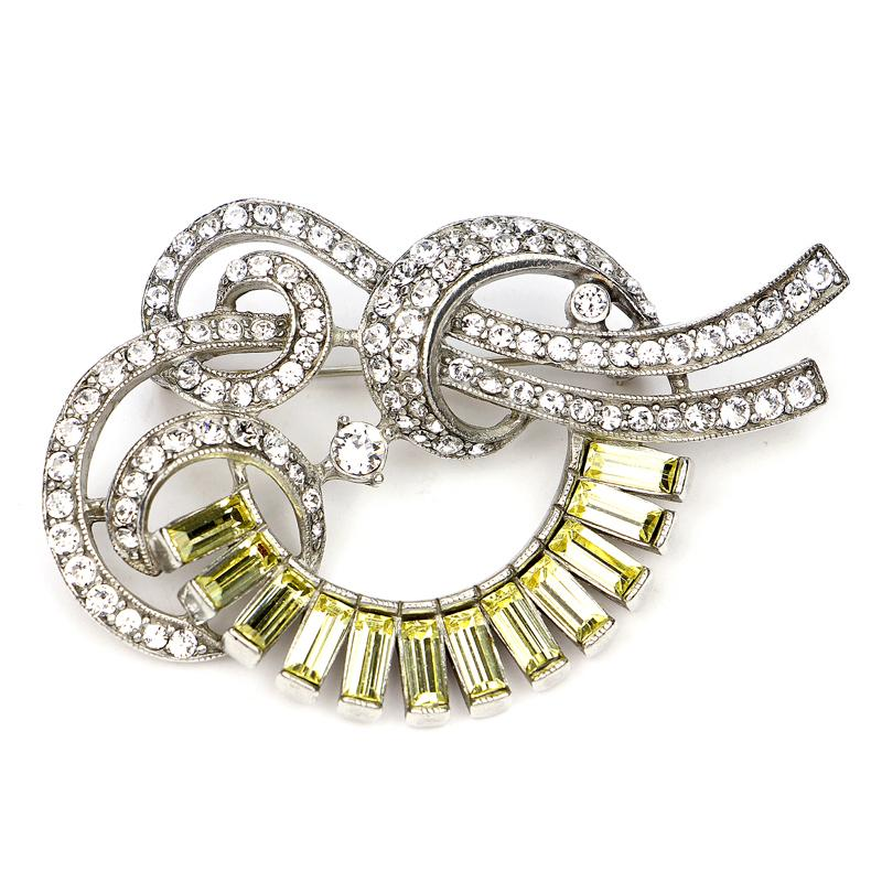 Crystal Collage Yellow Swarovski Deco Brooch - Ben-Amun