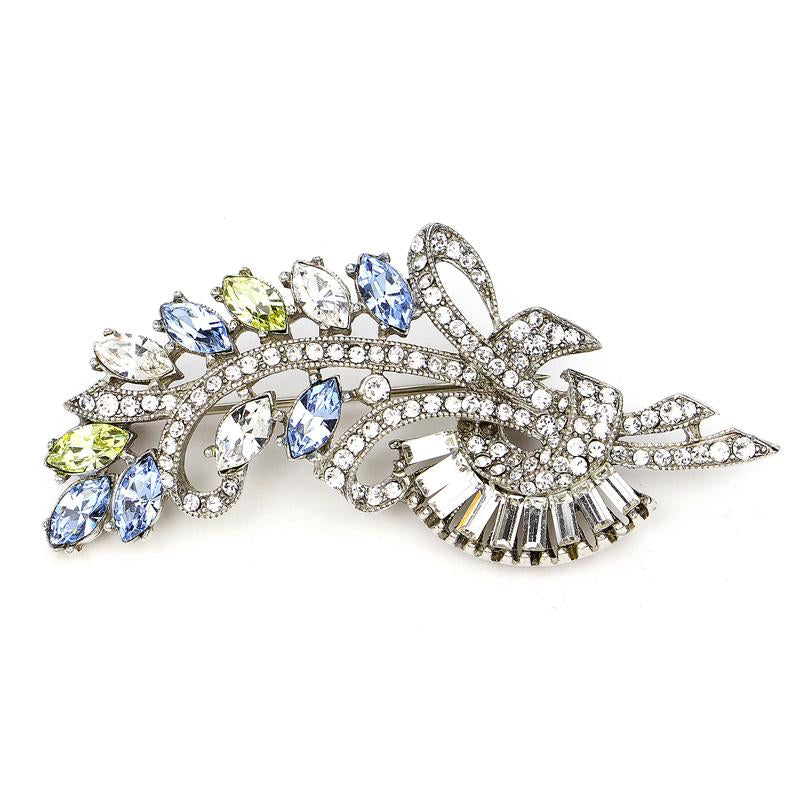 Crystal Collage Multicolor Swarovski Deco Brooch - Ben-Amun