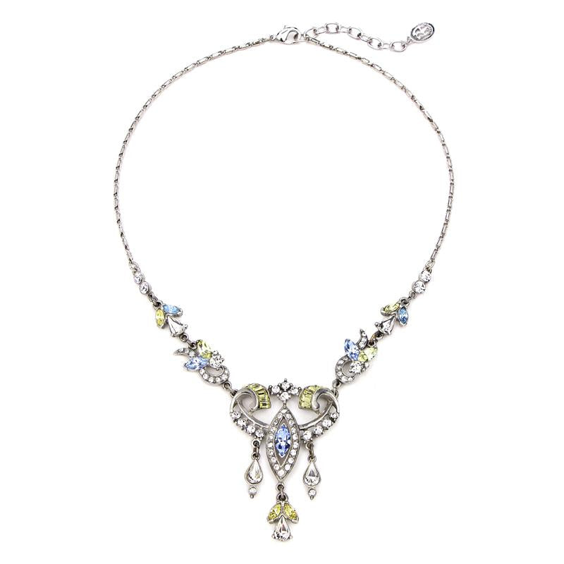 Crystal Collage Multicolor Swarovski Chandelier Necklace - Ben-Amun