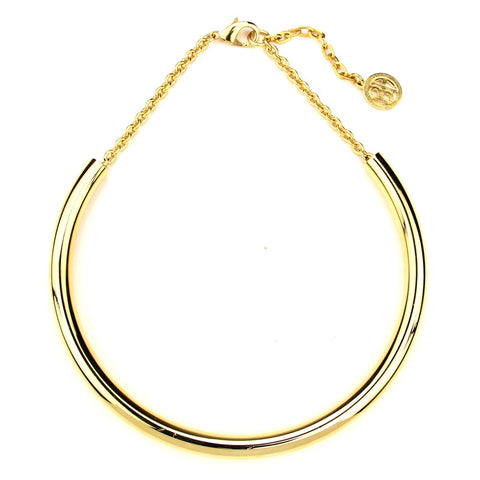 Gold Thin Collar Necklace - Ben-Amun