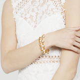 Crystal and Pearl Gold Bracelet - Ben-Amun