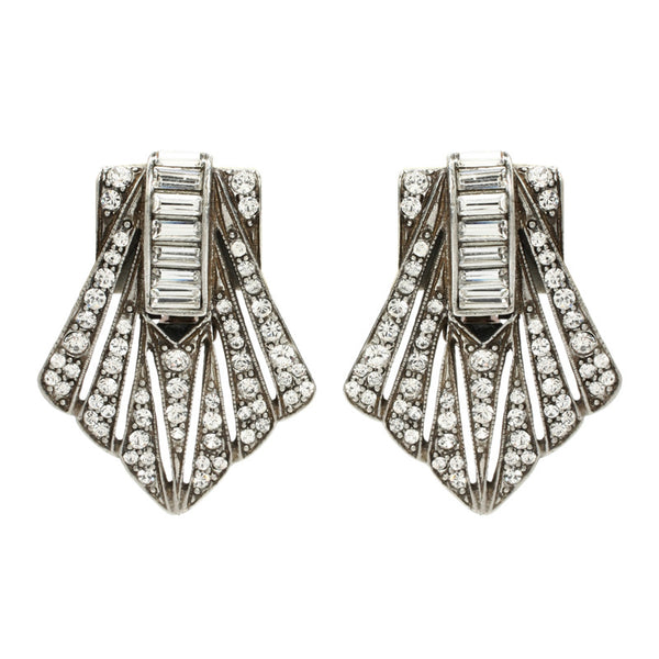 Deco Crystal Pyramid Earrings - Ben-Amun
