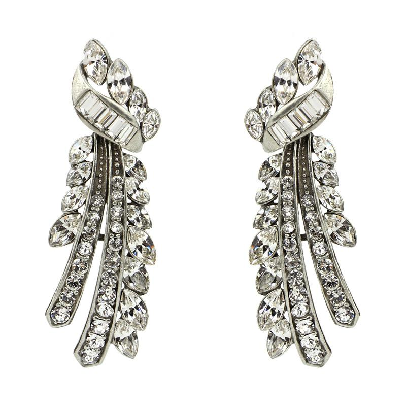 Crystal Branches Earrings - Ben-Amun