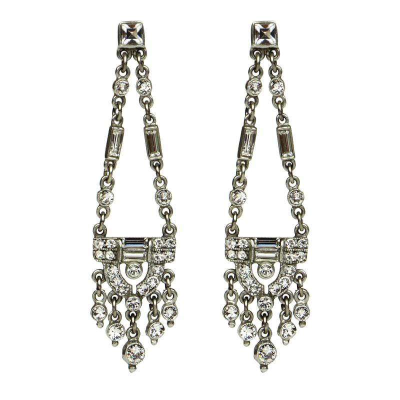 Swing Crystal Post Earrings - Ben-Amun