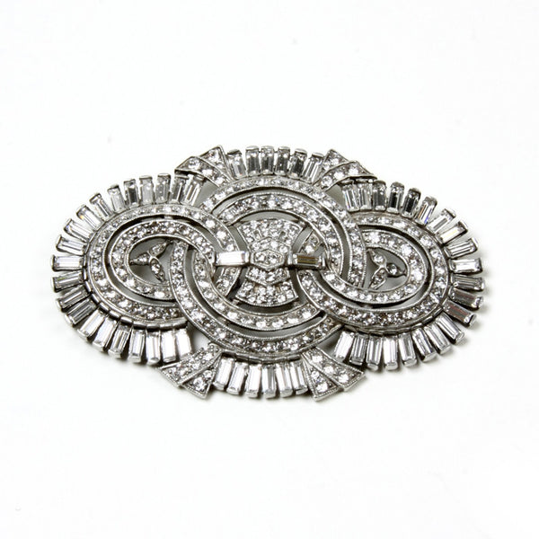 Crystal Deco Intertwined Brooch - Ben-Amun