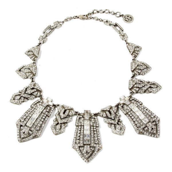 Deco Crystal Tower Collar Necklace - Ben-Amun