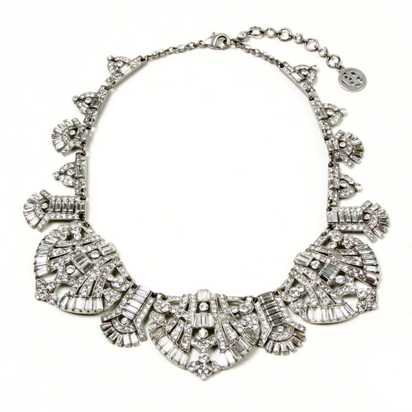 Deco Crystal Round Collar Necklace - Ben-Amun