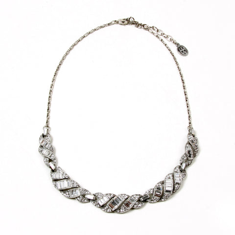 Crystal Ribbon Necklace - Ben-Amun