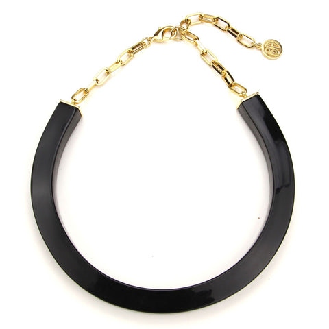 Black Resin Collar Necklace - Ben-Amun