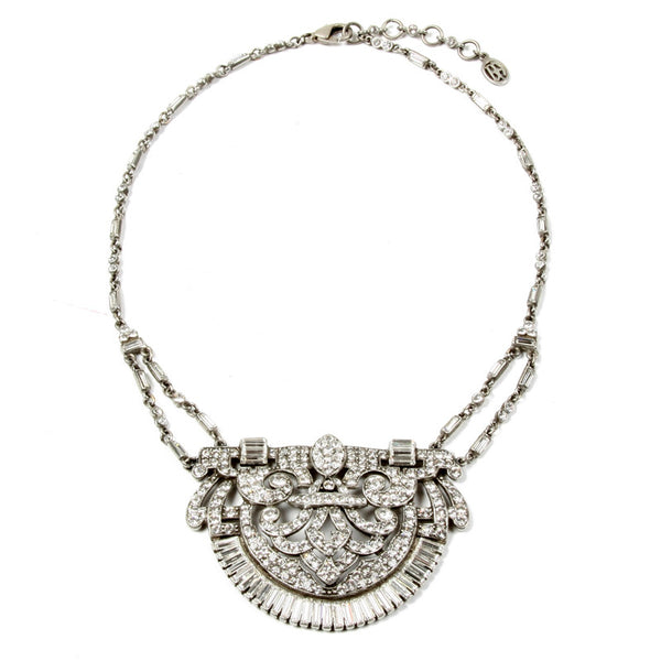Ornate Crystal Deco Necklace - Ben-Amun