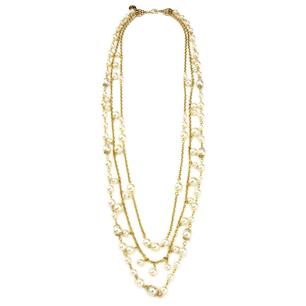 Lattice Pearls Multi Layers Necklace - Ben-Amun