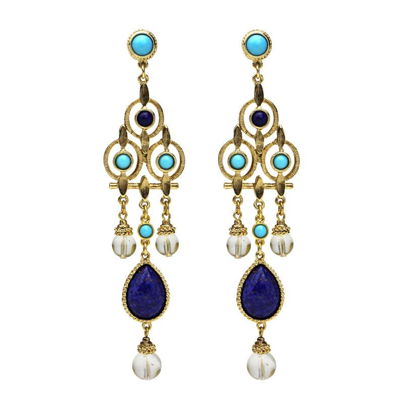 St. Tropez Statement Chandelier Earrings - Ben-Amun
