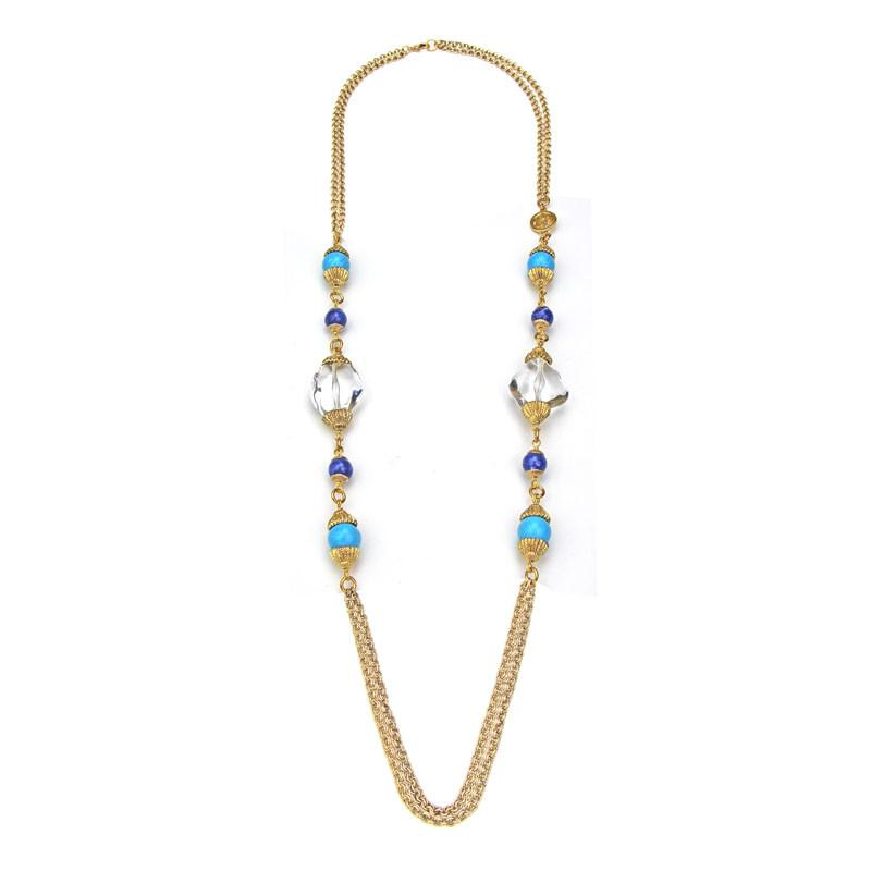 St. Tropez Chain Necklace With Beads - Ben-Amun