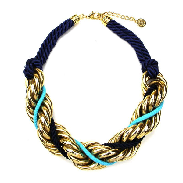 St. Tropez Chain Twist Necklace - Ben-Amun