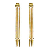Classic Gold Chain Spike Post Earrings - Ben-Amun
